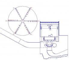 Распределение скоростей потока в напорном водоводе