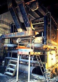 Котел с кипящим слоем для сжигания сланца тепловой мощностью 8,1 МВт