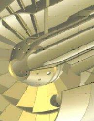 Прямоточно-вихревая горелка с аксиальным завихрителем и смешанной периферийной трубчатой и центральной подачей газа