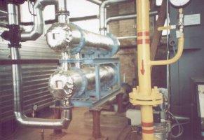 Блок водо-водяных подогревателей ПВМР-377х2-1,0 в котельной