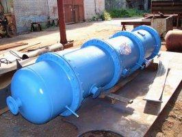 Опытный испаритель для трехконтурной системы подогрева жидкого топлива