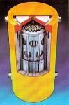 Рис.1 Модель контейнера для транспортировки и хранения  отработавшего топлива реактора РБМК-1500