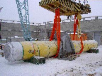 Рис.3. Разгрузка ВТУК на Игналинской АЭС